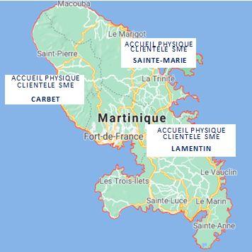 Nord Sud Accueil clientèle Carte sites SME